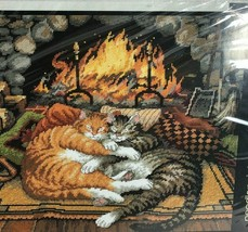 DIMENSIONS All Burned Out Charles Wysocki Needlepoint Kit Cats Fireplac... - $44.54