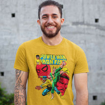 Heroes for Hire Iron Fist Power Man t shirt retro 70s marvel cotton graphic tee image 3