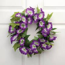 "16"" Purple Petunia Wreath by OakRidge™ Outdoor - $23.99"