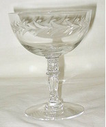 Fostoria Holly Pattern Sherbet Glass Set of 6 - $29.65