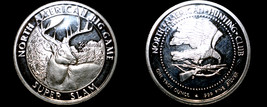 North American Hunting Club 1 Oz .999  Silver Round Whitetail Deer - $39.99