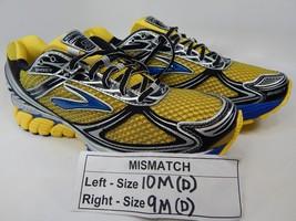 MISMATCH Brooks Ghost 5 Size 10 M (D) Left & 9 M (D) Right Men's Shoes Yellow
