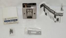 Cal Royal SDL16 Sliding Door Lock Privacy Satin Nickel Oxidized image 1