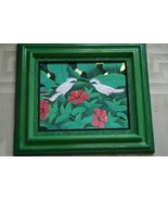 Hand painted Custom Frame Original Art painting on Canvas Signed Tropica... - $189.99