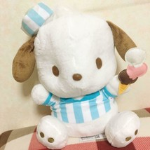 Pochacco Ice cream Shop BIG Plush Doll Blue Sanrio 30cm - $49.59