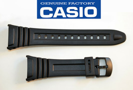 Genuine Casio Watch Band Strap Black Rubber ILLUMINATOR W-96H-1BV W-96-2AVH - $14.25