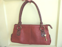 Fossil 1954 Baguette Handbag Soft Pebbled Brown Leather Nice Condition - $36.00