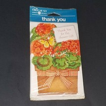 VTG NOS American Greetings Forget Me Not Thank You For the Shower Gift C... - $9.85