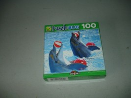 Puzzlebug Jigsaw Puzzle  Dolphins Playing Ball 100 Pieces, Brand New, Se... - $6.92