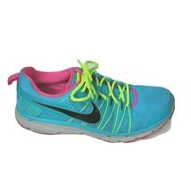 Nike Flex Trail 2 Fitsole Sneakers Running Shoe Size 11 Blue Pink 616681... - $39.59