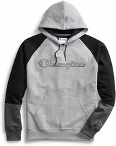 Champion Powerblend Colorblock Gray / Black Pullover Hoodie Adult XXL - $49.49