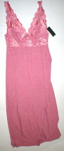 Womens New Designer Natori Night Gown Long S Small Rose Pink Lace NWT So... - $136.50