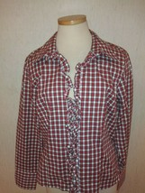 New Tommy Hilfiger Womens Plaid Button-Down Shirt Top Blouse Sz 16 NWT $59 MSRP - $11.76