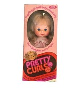 """Vintage Ideal Toy Corp Doll 1980 Pretty Curls PInk Dress Blue Eyes 12"""" D... - $28.01"""