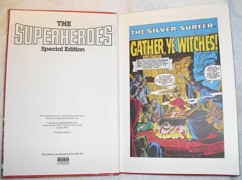 Rare Marvel Superheroes Special Ed. UK Hardcover HC HB