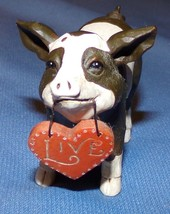 "Pig Pork Figurine Signed Betty 2010 Live Figure 1 1/2"" - $14.37"