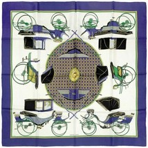 Hermes Scarf VOITURES A TRANSFORMATION 90cm Silk Carre DE LA PERRIERE - $229.95