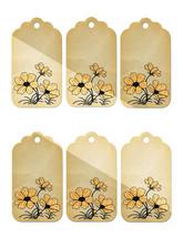 6 Flower Tags15-Download-ClipArt-ArtClip-Digital  - $3.99