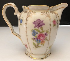 Bavaria Winterling Germany China Rose floral pattern Dresden Creamer pit... - $14.03