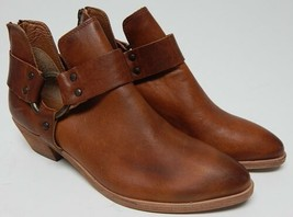 Frye Ray Harness Size US 7 M Women's Leather Back-Zip Heeled Ankle Boots... - $112.81