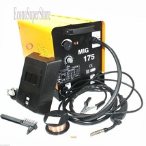 MIG 175 160AMP 110V Mag Flux Core Welding Machine Gas Welder Fabrication... - $237.59