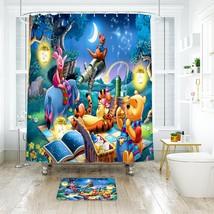 Cartoon 33 Shower Curtain Waterproof Polyester Fabric & Bath Mat For Bathroom - $15.30+