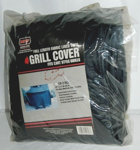 MHP CV2DLX Full Length Fabric Lined Vinyl Cart Style Grill Cover Color Black