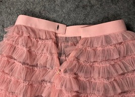 Blush Tiered Midi Tulle Skirt Blush Bridesmaid Skirt Outfits Tulle Puffy Skirts image 4