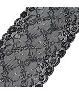 Black Lace Embroidery Fabric Trim for DIY Decorating - $12.99