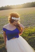 Plus Size Long Tulle Skirt Ivory Wedding Tulle Skirt 4-Layered Puffy Tutu image 3