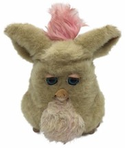 Large 2005 Furby Beige Pink Mohawk Blue Teal Eyes Electronic Flaw Works ... - $59.39