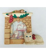Russ Cozy Christmas Kittens Mini Frame Insert Your Own Photo Cat by Fire... - $9.74