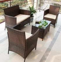 Deep Seating Set Patio Table Balcony Chairs Deck Outdoor Sofa Garden Fur... - £234.70 GBP