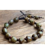 Prayer Beads Eucalyptus Pod Adjustable Wrist Mala Prayer Bracelet  #41022 - $10.77