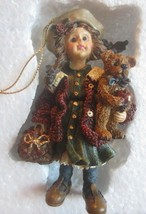 Boyds Bears Yesterdays Child Candice W/MATTHEW Gathering Apples Ornament - $19.60