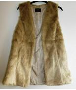FUNKY WARM ladies size 8 Papaya sleeveless faux fur open front GILLETT-B... - $40.70