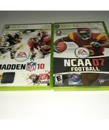 Xbox 360 Football Games Bundle Madden NFL 10 & NCAA 07 Football - $9.90