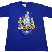 Vintage Y2K 2001 Walt Disney World 30th Anniversary T Shirt Mens Small NEW Blue - $34.58