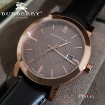 Burberry BU9013 The City Brown Leather Strap 38mm - $298.00