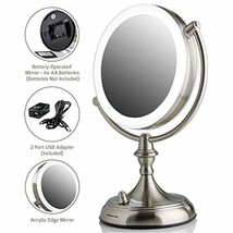 Ovente Double Sided Standing Makeup Vanity Mirror 7.5 Inch 1X with 10X M... - $76.99