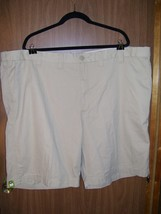 New Men's Lee Flexible Comfort Waistband Khaki Shorts Size 50, Camel Color - $18.57