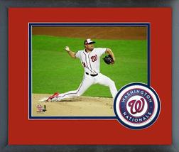 Max Scherzer 2018 MLB All-Star Game - 11x14 Team Logo Matted/Framed Photo - $43.55