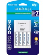 Panasonic Eneloop Individual Cell Battery Charger Pack w/ (4) AA Batteries - $23.84