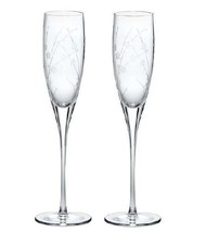 Lenox Bellina Non Lead Crystal Floral Toasting Flutes ( Set of 2 ) - $72.00