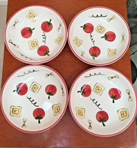 "NWOT-TABLETOPS UNLIMITED Kitchen Prep 101 - Set of Four- 8"" Tomato Bowls - $17.37"