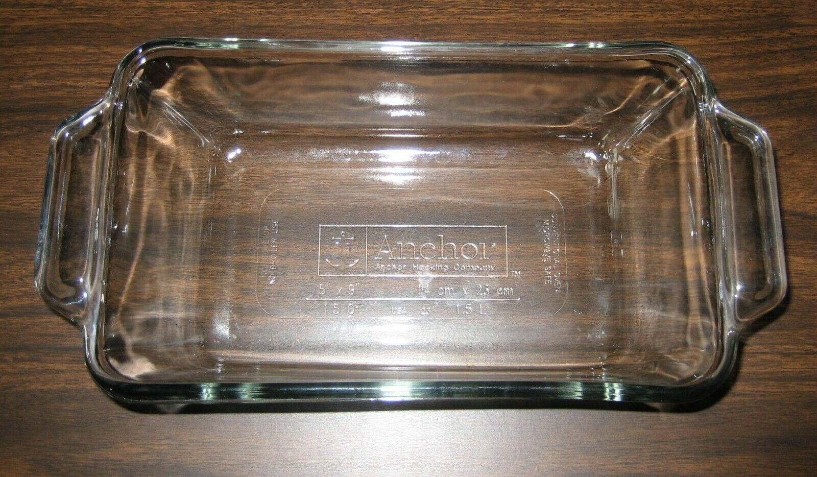 """Vintage Anchor 5"""" x 9"""" (14cm x 23cm) 1.5 qt 1.5L Casserole Loaf Dish - $5.00"""