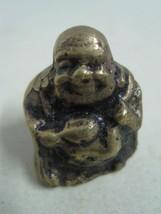 Antique bronze Statue Figurine figure decorative a Buddha with a bag on ... - $14.00