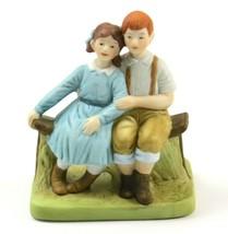 "Vintage 1989 Danbury Mint Norman Rockwell ""Puppy Love"" Porcelain Figurine - $13.85"
