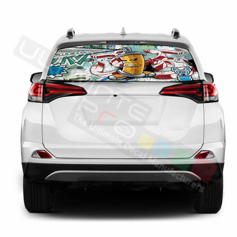 Sticker Bomb Skin Window See Thru Stickers Perforated for Toyota RAV4 2018 2019  - $57.00