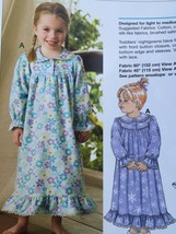 Kwik Sew Sewing Patterns 3423 Girls Toddlers Nightgowns Size 1-4 New - $14.85